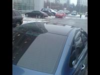 Ford Focus 2 оклейка крыши черной глянцевой пленкой