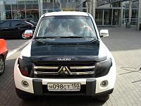 Mitsubishi Pajero капот черный глянец, зеркала