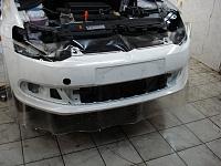 Ford Focus Полная замена цвета авто, виниловой пленкой снежно белого цвета.