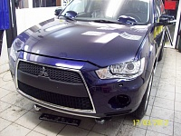 Mitsubishi Outlander синий защита