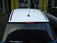 Оклейка белой виниловой пленкой Peugeot 307