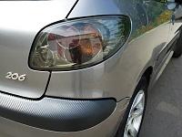 Оклейка разных деталей пленкой 3D Carbon Peugeot 206
