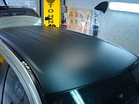 MITSUBISHI OUTLANDER оклеена крыша, капот и решетка радиатора черной матовой пленкой