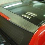 Audi A3. Теперь имеет карбоновый капот, спойлер и боковые стойки возле стекла при помощи пленки серии DI-NOC от компании 3M.