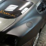 Полная замена цвета черной матовой пленкой на Bentley continental gt