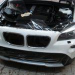 BMW X3. Ламинация бампера.