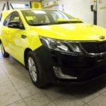Kia Rio желтое такси