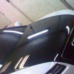 Audi A5. Виниловый стайлинг багажника, крыши и капота с продолжением на бампер (черная глянцевая пленка)