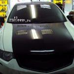 Черная глянцевая пленка на Honda Accord.