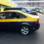 Ford Focus желтое такси